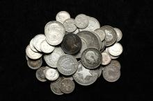 COINS - Bag of Foreign Silver Coins, many .925, includes: Cuba, Great Britain, Canada, Spain etc.