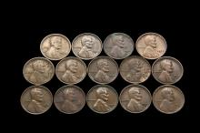COINS - Very interesting lot of Semi-key date Lincoln Cents, (14) pcs include: (2) 1910-S; (2) 1911-S; (2) 1913-S; (1) 1914-S; (2) 1915-S; (3) 1922-D; (1) 1924-D.