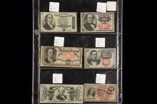 CURRENCY - Lot of (6) Pcs of Fractional Currency includes: (1) #1379; (1) #1308; (1) #1380; (1) #1265; (1) #1328; (1) #1267.