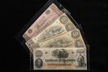 CURRENCY - Lot of (3) Pcs Confederate Currency and (1) Pc of Cranston Bank, RI.