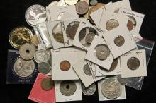 COINS - Lot of (68) Assorted Foreign Coins, many BU, many countries.