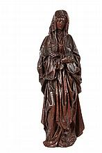ATTRIBUTED TO JAN BORREMAN (active Brussels, 1479-1520) - The Holy Mother, black walnut, 15