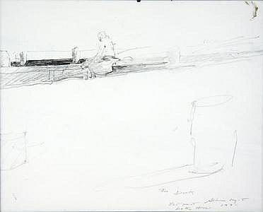 Pencil Drawing by Andrew Wyeth PA/ME 1991