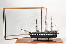 CASED SHIP MODEL - Early 20th c. Full Model of a Sailing Ship with the name
