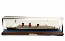 SMALL CASED SHIP MODEL -