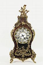 FRENCH BOULE MANTEL CLOCK - Large Ornate Louis XVI Style Clock marked on the porcelain and brass dial