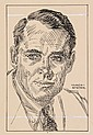 PEN & INK ILLUSTRATION - Caricature by George Wachsteter (1911-2004), of Henry Fonda, in the title role of the Broadway production of