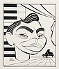 PEN & INK ILLUSTRATION - Caricature by George Wachsteter (1911-2004) of Pianist/Composer, Actor, Raconteur & Bon Vivant, Oscar Levant,