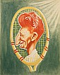 OIL ON CANVAS BOARD - Caricature by George Wachsteter (1911-2004) of Tennis Champion Don Budge, Number One ranked player in the world,