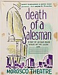 (5) POSTER DESIGNS - by George Wachsteter (1911-2004) in ink & colored pencil for the monumental Broadway tragedy 'Death of a Salesman