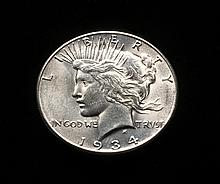 COIN - 1934-S Peace Dollar, scarce date, high grade.