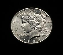 COIN - 1928 Peace Dollar, choice, unc