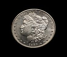 COIN - 1889-S Morgan Dollar, choice.