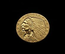 COIN - 1914 $2.50 Indian Head Gold