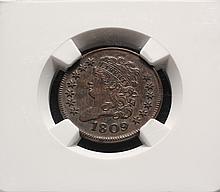 COIN - 1809 Classic Head Half Cent, NGC AU 55 BN