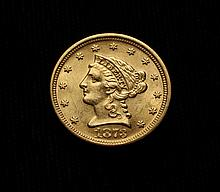COIN - 1873 $2.50 Gold Closed 3, CH BU.