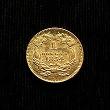 COIN - 1854 $1.00 Gold Type 2, choice.