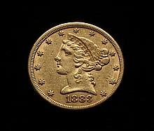 COIN - 1883 $5.00 Liberty Gold