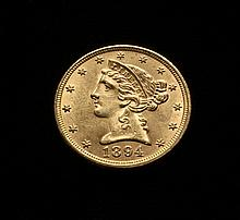 COIN - 1894 $5.00 Liberty Gold