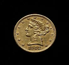 COIN - 1902-S $5.00 Liberty Gold