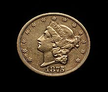 COIN - 1875-S $20.00 Liberty Gold