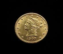 COIN - 1907-S $10.00 Liberty Gold