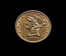 COIN - 1886 $5.00 Liberty Gold