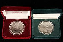 COINS - 1989 and 1990 American Eagles 1-oz. Sil. BU