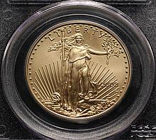 COIN - 2008 W $50.00 Gold American Eagle, 1oz. burnished PCGS - 70, scarce so nice.