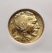 COIN - 2008 W $25.00 Gold American Buffalo 1/2oz. .9999 fine NGC MS - 70.