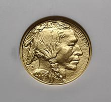 COIN - 2008 W $10.00 Gold American Buffalo 1/4oz. .9999 fine NGC MS - 70, scarce.