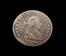 COIN - 1806/5 Draped Bust Quarter F.