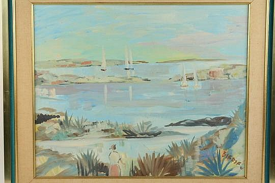 OOC Bermuda Sailboats Alfred Birdsey NY