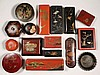 (16) PCS JAPANESE LACQUER - Collection of Glove Boxes, Powder Holders, Pen Trays, Trinket Boxes and Desk Sets. Circa 1900-1930s. 4