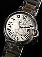 Cartier Ballon Bleu Steel & 18K Gold Wristwatch