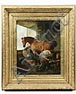 OOC Shoeing a Horse in Barn by Henry F Henford