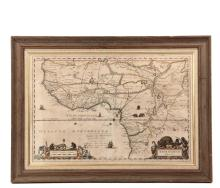 RARE EARLY MAP OF AFRICA WITH LATER NOTATIONS -