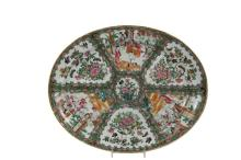 LARGE CHINESE PORCELAIN PLATTER - Mid 19th c