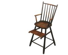 CHILD'S WINDSOR HIGHCHAIR - Late 18th to Early 19th c