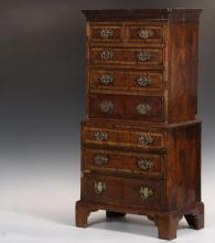 APPRENTICE MADE TALL CHEST MODEL - Late 18th c