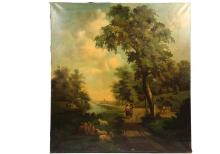MONUMENTAL MURAL - Architectural Scale 19th c