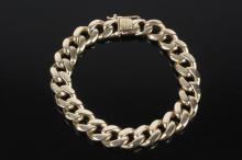 GENT'S BRACELET - Vintage 14K Gold Curb Link Bracelet; 1/2