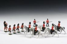 BRITAINS TOY LEAD SOLDIER SETS - (3) Partial Sets, all 1950s vintage, none with boxes, including: (7) Royal Scots Greys, 2nd Dragoons, (mounted); PLUS (4) Seaforth Charging Highlanders & (1) Piper; PLUS (2) Royal Mari...