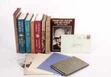 COLLECTION THORNTON OR ISABEL WILDER AUTOGRAPHED BOOKS & FDR SIGNED NOTE - Mostly First Edition Thornton Wilder Books inscribed and signed to Louise, wife of Eugene Davidson, Historian, Publisher and Editor, who ran t...