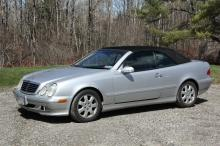 AUTOMOBILE - 2003 Mercedes Benz CLK320A 2-dr Cabriolet, vin # WDBLK65G23T131822, 3.2L, V6 FI SOHC 18V engine, automatic trans., 105,467 miles, silver with black leather interior. With owners maintenance records