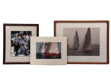 (3 PCS) AMERICA'S CUP EPHEMERA - Signed Photo and Letter from Dennis W. Conner, American yachtsman, known as