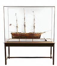 MONUMENTAL CASED SAILING SHIP MODEL ON STAND - California Clipper Ship 'Coeur de Lion' (Lion Heart), designed and built by George Raynes, launched at Portsmouth, NH in 1854
