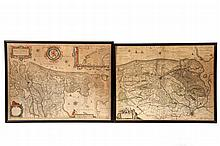 (2) 18TH C ENGRAVED MAPS - 'Hollandia Comitatus' by Willem Janszoon Blaeu (1571-1638), Amsterdam, circa 1635