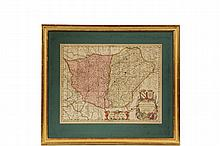 EARLY MAP OF FRANCE -