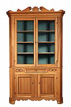 COUNTRY CORNER CUPBOARD - 19th c